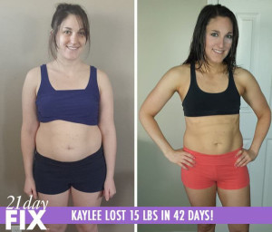 21 Day Fix results - Kaylee
