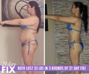 21 Day fix results - Ruth