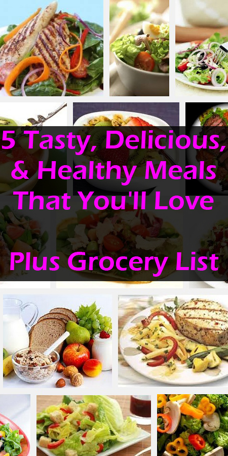 5 days worth of healthy meals and a grocery list. Check it out here: http://www.30minutecardioworkout.com/5-meals-wk1-05