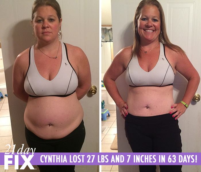 Cynthia Thought She Had No Time To Workout with 3 Kids. She 27 LBS