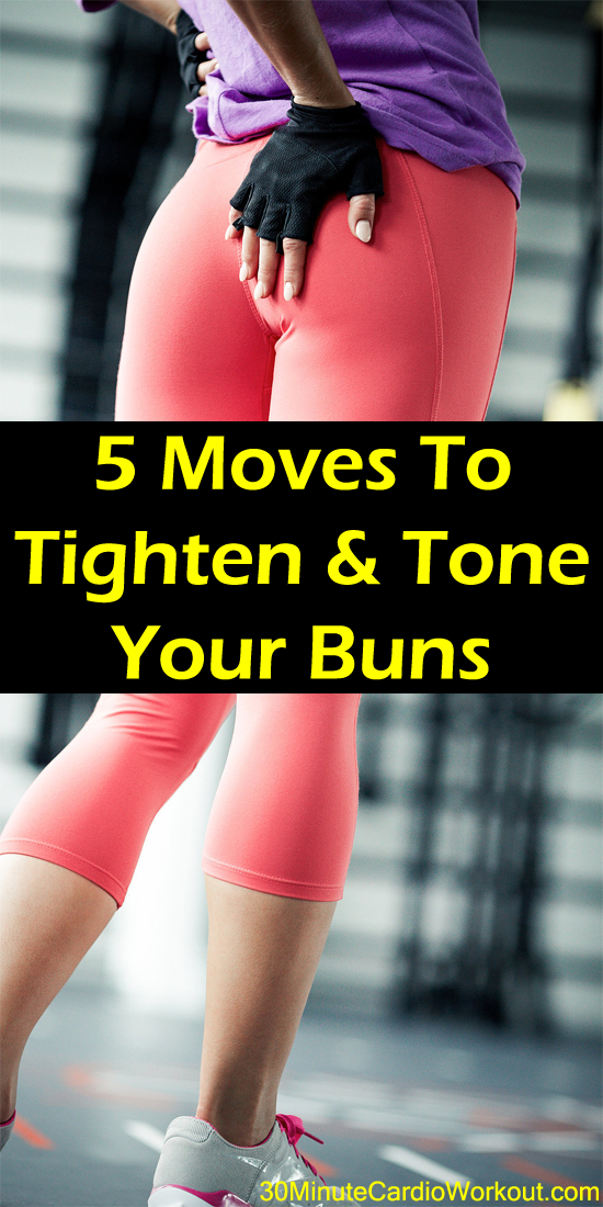 Need to get that new booty look? Tighten and tone your buns with 5 simple moves inspired by PiYo. Go here: http://www.30minutecardioworkout.com/5-piyo-moves-to-tighten-and-tone-your-buns