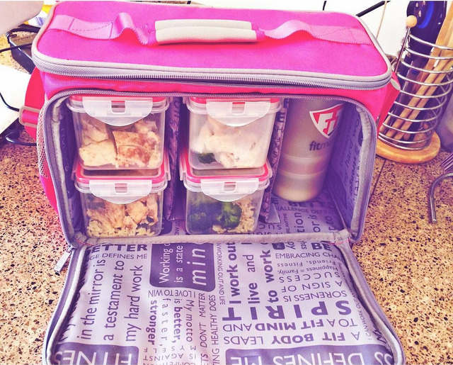 Get meal containers to easily store your meals for the week!