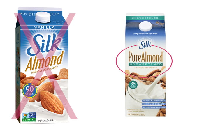 Avoid the extra sugar by choosing unsweetened!