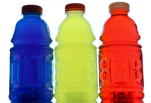 Sports drinks may help but are also packed with sugar!